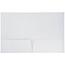 JAM Paper Laminated Two-Pocket Glossy Folders, White, 100/CT Thumbnail 2