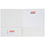 JAM Paper Laminated Two-Pocket Glossy Folders, White, 100/CT Thumbnail 3