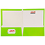 JAM Paper® Laminated Two-Pocket Glossy Folders, Lime Green, 100/CT Thumbnail 3