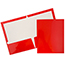 JAM Paper® Laminated Two-Pocket Glossy Folders, Red, 25/PK Thumbnail 1