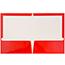 JAM Paper® Laminated Two-Pocket Glossy Folders, Red, 25/PK Thumbnail 2