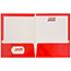JAM Paper® Laminated Two-Pocket Glossy Folders, Red, 25/PK Thumbnail 3