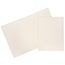 JAM Paper Two-Pocket Textured Linen Business Folders, Ivory, 25/PK Thumbnail 1