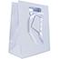 "JAM Paper Gift Bag, 10"" x 13"" x 5 1/2"", Light Blue Pinstripe Thumbnail 1"