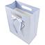"JAM Paper Gift Bag, 10"" x 13"" x 5 1/2"", Light Blue Pinstripe Thumbnail 2"
