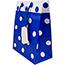 """JAM Paper® Gift Bags, 8"""" x 10"""" x 4"""", Blue & White Polka Dot Matte, 24/PK Thumbnail 1"""