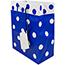 """JAM Paper® Gift Bags, 8"""" x 10"""" x 4"""", Blue & White Polka Dot Matte, 24/PK Thumbnail 2"""