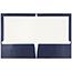 JAM Paper Laminated Two-Pocket Glossy Folders, Navy Blue, 50/PK Thumbnail 2