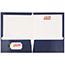 JAM Paper Laminated Two-Pocket Glossy Folders, Navy Blue, 50/PK Thumbnail 3