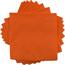 "JAM Paper® Bulk Lunch Napkins - Medium - 6 1/2"" x 6 1/2""- Orange - 600 Napkins/Case Thumbnail 1"