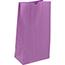 "JAM Paper® Kraft Lunch Bags, 5"" x 3"" x 9 3/4"", Purple, 500/BX Thumbnail 2"