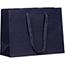 "JAM Paper Matte Horizontal Gift Bag, 17"" x 6"" x 13"", Navy Blue Recycled Thumbnail 1"