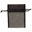 "JAM Paper Sheer Organza Gift Bags, 3"" x 4"", Black, 96/PK Thumbnail 1"