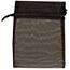 "JAM Paper® Sheer Organza Gift Bags, 5 1/2"" x 9"", Black, 12/PK Thumbnail 1"