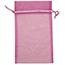"JAM Paper Sheer Organza Gift Bags, 5 1/2"" x 9"", Violet, 12/PK Thumbnail 1"
