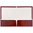 JAM Paper Laminated Two-Pocket Glossy Folders, Maroon Red, 100/BX Thumbnail 2
