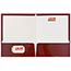 JAM Paper Laminated Two-Pocket Glossy Folders, Maroon Red, 100/BX Thumbnail 3