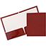 JAM Paper Laminated Two Pocket Glossy Folders, Maroon Red, 25/PK Thumbnail 1