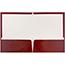 JAM Paper Laminated Two Pocket Glossy Folders, Maroon Red, 25/PK Thumbnail 2
