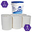 Kimtech™ Wipers, Solvents, 12 x 12 1/2, White, 60/Roll, 6 Rolls/Carton Thumbnail 6