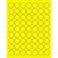 "Tape Logic® Circle Laser Labels, 1"", Fluorescent Yellow, 6300/CS Thumbnail 1"