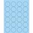 "Tape Logic® Circle Laser Labels, 1 5/8"", Pastel Blue, 2400/CS Thumbnail 1"
