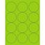 "Tape Logic® Circle Laser Labels, 2 1/2"", Fluorescent Green, 1200/CS Thumbnail 1"