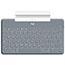 Logitech® Keys-To-Go Keyboard - Wireless Connectivity - Bluetooth - iOS - Scissors Keyswitch - Stone Thumbnail 2