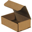 "W.B. Mason Co. Corrugated mailers, 6"" x 4"" x 2"", Kraft, 50/BD Thumbnail 1"