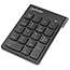 Manhattan Numeric Wireless Keypad, 18 Keys - USB - Black Thumbnail 1