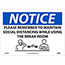"""NMC™ Vinyl Sign/Label, """"Notice - Please Remember To Maintain Social Distancing"""", 10"""" x 14"""" Thumbnail 1"""