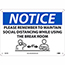 """NMC™ Plastic Sign, """"Notice - Please Remember To Maintain Social Distancing"""", 10"""" x 14"""" Thumbnail 1"""