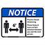 "NMC™ Adhesive Vinyl Sign, ""Notice - Practice Social Distancing"", 14"" x 10"" Thumbnail 1"