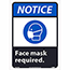 """NMC™ Adhesive Vinyl Sign, """"Notice - Face Mask Required"""", 10"""" x 14"""" Thumbnail 1"""