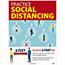 "NMC™ Polytag Poster, ""Practice Social Distancing"", 18"" x 24"" Thumbnail 1"