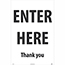 """NMC™ Corrugated A-Frame Plastic Sign, """"Enter Here - Thank You"""", 24"""" x 36"""" Thumbnail 1"""