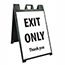 "NMC™ Plastic Stand and Sign Kit, ""Exit Only - Thank You"", 25"" x 45"" Thumbnail 1"