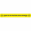 """NMC™ Floor Sign, """"Thank You For Practicing Social Distancing"""", TexWalk®, Black/Yellow, 20"""" x 2 1/4"""" Thumbnail 1"""