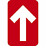 """NMC™ Directional Arrow, Temporary-Step Adhesive Back, 4"""" x 6"""", Red, 10/PK Thumbnail 1"""