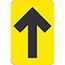 "NMC™ Directional Arrow, Temporary-Step Adhesive Back, 4"" x 6"", Black/Yellow, 10/PK Thumbnail 1"
