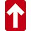 "NMC™ Directional Arrow, Walk-On Adhesive Back, 4"" x 6"", Red, 10/PK Thumbnail 1"