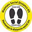NMC™ Maintain 6' of Distance Thank You, Floor Sign, 8 x 8, TexWalk Material, English/Spanish Thumbnail 1