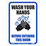"""NMC™ Removable Vinyl Sign/Label, """"Wash Your Hands Before Entering This Room"""", 7"""" x 10"""" Thumbnail 1"""