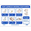 """NMC™ Removable Vinyl Sign/Label, """"Fight Germs By Washing Your Hands"""", 10"""" x 7"""" Thumbnail 1"""