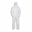 W.B. Mason Co. Disposable Hooded Coveralls, Elastic Wrists & Ankles, Large, White Thumbnail 1