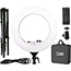 W.B. Mason Co. LED 18'' Ring Light Kit with Stand and Carrying Case Thumbnail 5