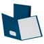"""Oxford™ Twin Pocket Portfolio with Fasteners, 8 1/2"""" x 11"""", Blue, 10/PK Thumbnail 1"""