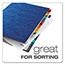 Pendaflex® PressGuard Expanding Desk File, A-Z, Letter Size, Acrylic-Coated, Blue Thumbnail 4