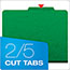 Pendaflex® Six-Section Colored Classification Folders, Letter, Green, 10/Box Thumbnail 3