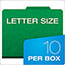 Pendaflex® Six-Section Colored Classification Folders, Letter, Green, 10/Box Thumbnail 2